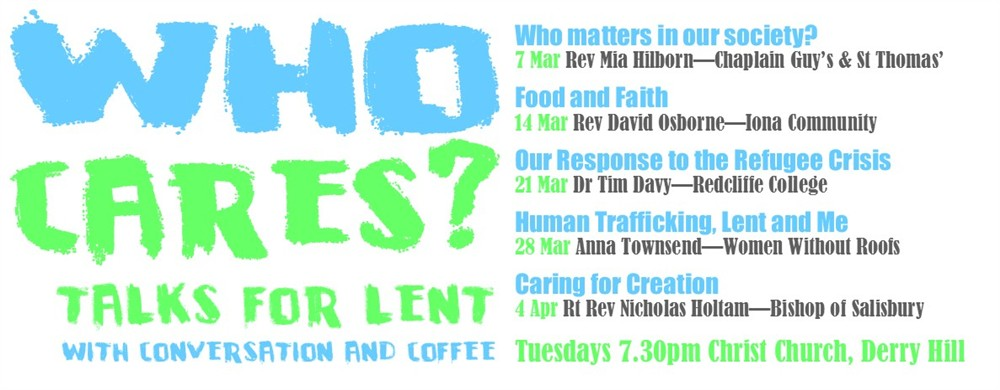 Talks for Lent with conversation and coffee